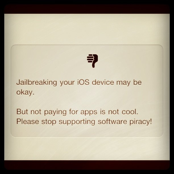 iOS Jailbreak Software Piracy