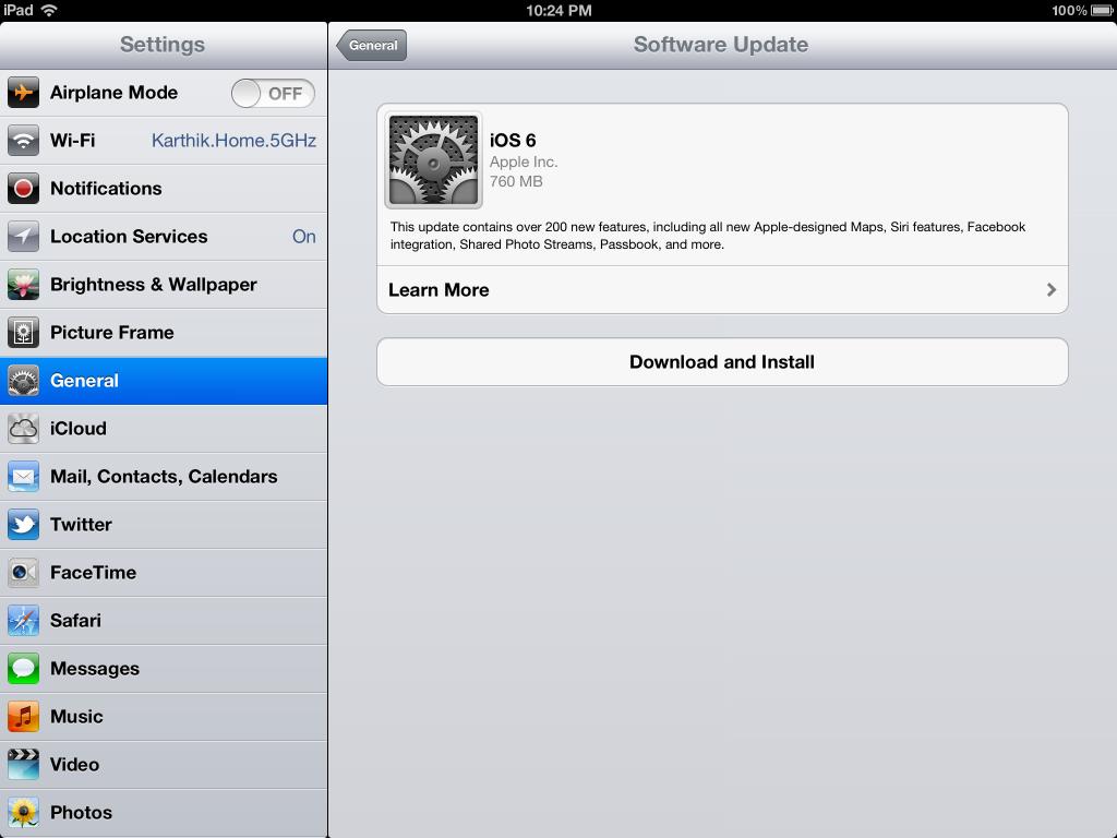 iPad 3 iOS 6