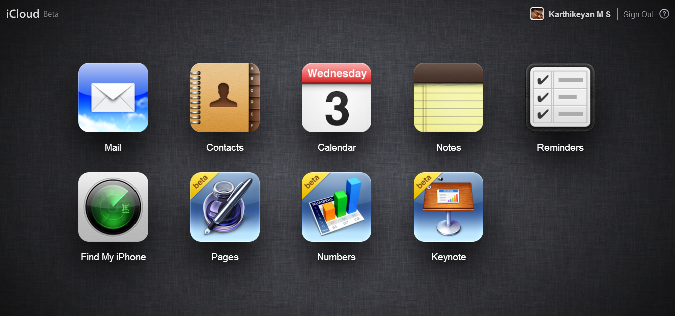 iWork For iCloud Beta